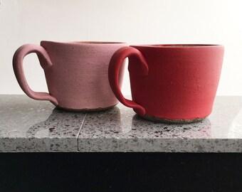 Pink or Red Coffee Mug, Tea Coffee Cup