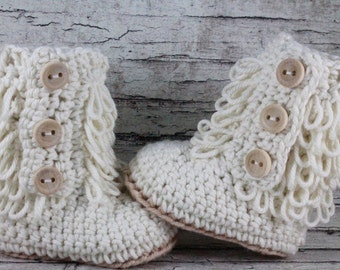 Baby Boots, Crochet Baby Boots, Baby Girl, Baby Girl Boots