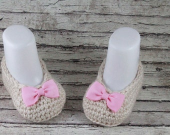 Baby Booties, Crochet Baby Girl Booties, Baby Girl
