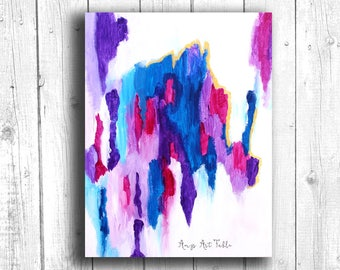 Purple Abstract Painting, Digital download, Printable original art, Digital 8x10 art printable