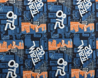 Cotton Fabric, Sewing Fabric, Cotton Quilting Fabric, City Scape, Architecture, Fabric by the Yard - 1 1/8 Yard - CFL2198