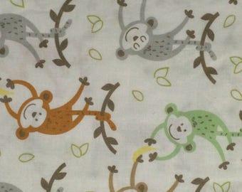 Cotton Fabric / Banana Monkeys Fabric / Monkey Nursery Fabric / Magic Moon Fabric / JoAnns Fabric / Quilting Fabric / 1 Yard