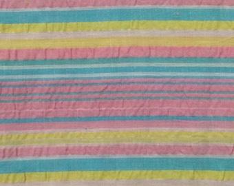 Cotton Fabric / Tutti Fruitti Fabric / Pastel Striped Cotton Fabric / Striped Tutti Fruitti Fabric / Pastel Striped Fabric / Baby Fabric