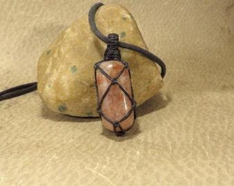 Sunstone (Heliolite) Pendant - Protection Energy Passion - Solar Plexus Chakra Sacral Chakra Reiki Infused Energy Jewelry