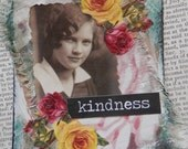 """ACEO ATC one-of-a-kind Original """"Kindness"""" Artist Trading Card"""
