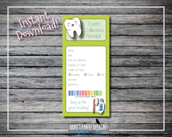 Receipt Book Template Free Download Word Green Receipts  Etsy Handyman Invoice Excel with Mac Receipt Word Printable Green Tooth Collection Receipt  X  Girl Or Boy  Instant Neat Receipts Scanner Review