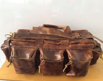 Leather Duffel Travel Bag,Men Duffel Bag/Leather Travel Bag,Travel Duffle Weekend Bag For Men, Mens Accessories,Rustic Retro Bag