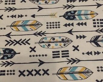 feather arrow fabric 1 yard