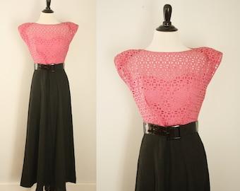 1940s maxi dress | vintage 40s dress