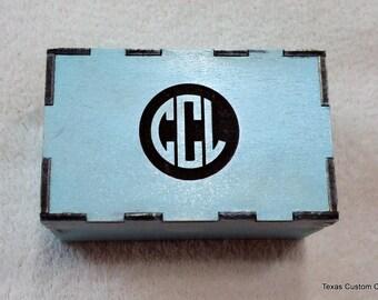 Monogrammed Wood Box, Personalized Wood Box, Wood Keepsake Box, Small Wood Box, Wood Gift Box
