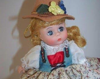 Austria ( brown) Madame Alexander 8 in doll