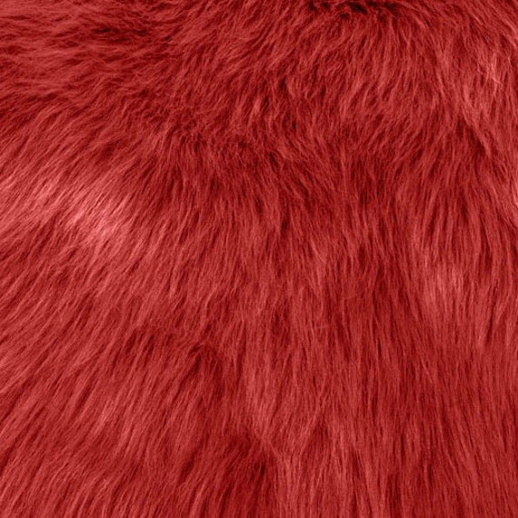 Fun Monkey Fur Fire Red 60 Inches Fabric By The Yard 1 Yard