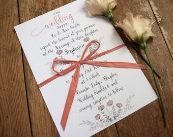 Blossom Wedding Invitation, Day/Evening Wedding Invitation