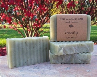 Tranquility, Natural Handmade Soap, Relaxation, Spa Soap, Cold Process, Vegan