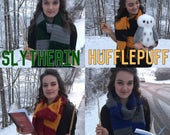 Harry Potter First Year Hogwarts House Pride Scarf (Ravenclaw, Slytherin, Hufflepuff, Gryiffindor, or create your own!)