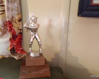 Vintage Baseball Trophy, Baseball decor,trophies,sports memorabilia,Little leage,boys room decor