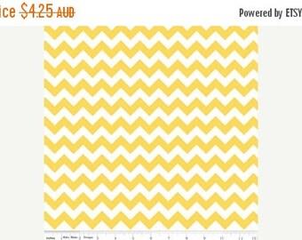 40% OFF SALE Riley Blake Fabric - 1 Fat Quarter Small Chevron in Yellow