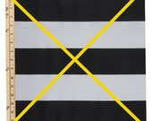 16x20 Black and white stripe with Gold Ribbon