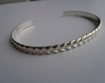 Silver (.925 ) cuff bracelet.