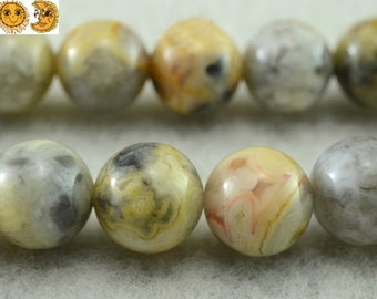 15 inch strand of Multicolor crazy lace agate smooth round beads 2mm 3mm 6mm 8mm 10mm for choose