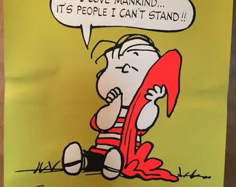 Peanuts poster of Linus from the 60's