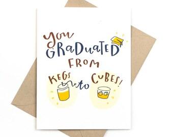 graduation card - kegs to cubes