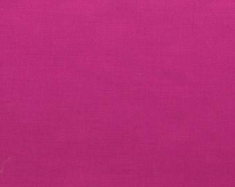 60 Inch Poly Cotton Broadcloth Fuchsia Fabric by the yard - 1 Yard