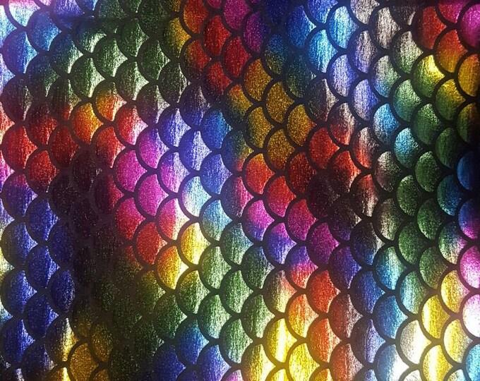 Rainbow fish scales