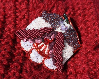 "Couture embroidery/ embroidered bead brooch ""Fairy Tale"""