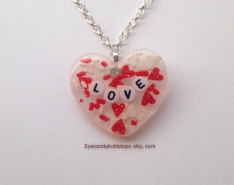 Love Charm Resin Necklace