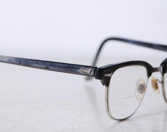 50s horn rimmed mens eyeglasses vintage accessories buddy holly icon dad glasses gifts for him