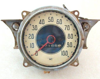 Late 1930's General Motors GM Truck Speedometer made by AC, All Original and Appears To Be Working