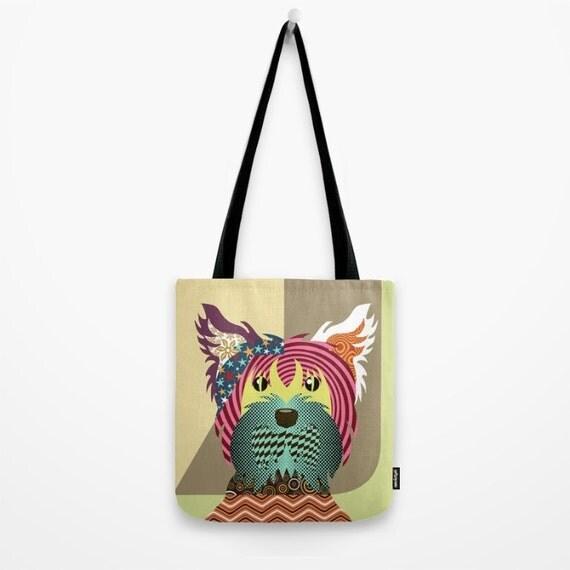 Yorkie Gifts, Yorkshire Terrier Tote Bag, Yorkie Art, Pop Art Dog, Yorkshire Print, Dog Lover Gifts, Dog Bag