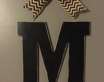ON SALE!!!!  Initial door hanger, monogram Door Hanger, wall decor, bridal shower gift, wedding gift, front door