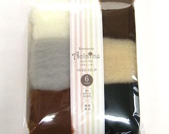 Hamanaka Aclaine Wool Felt 6 Color Set H441-141-2