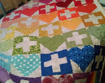 Love Is Love Is Love Quilt - Throw Size