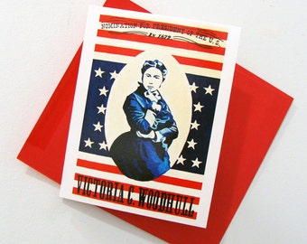 Victoria Woodhull - Art Notecard - Women Throughout History - - by Bonnie Fillenwarth