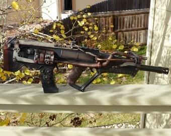 Steampunk, AnomalyCon, Machine Gun, Gun, Gauge, Copper tubing, Weapon, Nerf, Toy, MasterGreig, MG-741