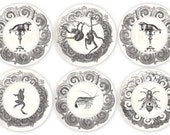 spider monkeys, frog, shrimp, bee or walrus melamine plate