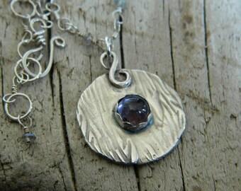 Fine Silver and Iolite Necklace