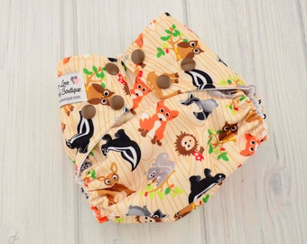 Cloth Baby Diapers - Forest Diaper - Newborn Cloth Diaper Covers - Reusable Cloth Diapers - AI2 Diapers - 1586, 1584