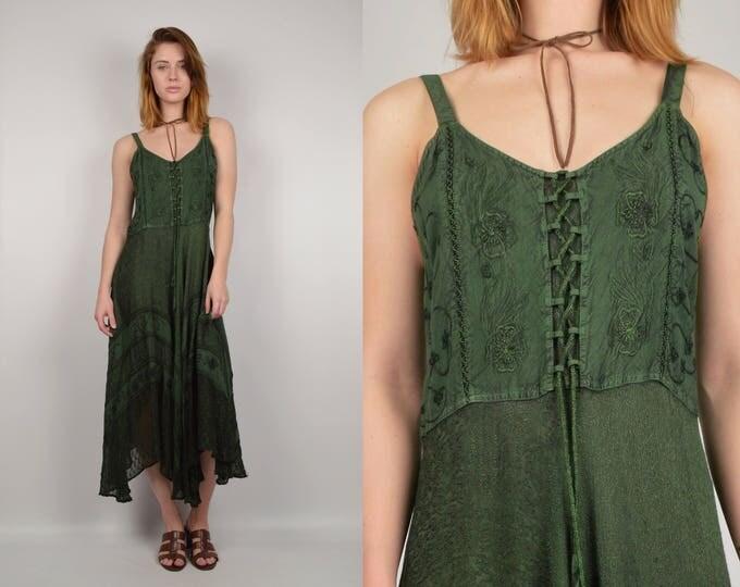 Vintage Embroidered Hippie Dress