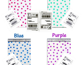 "200 Shipping Labels and 200 10"" x 13"" Pink