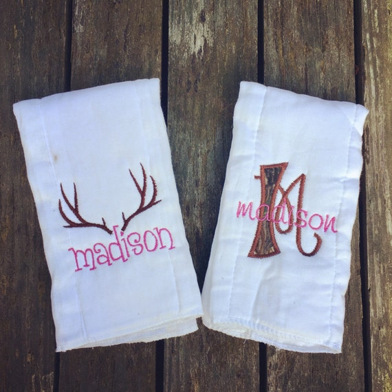 Personalized Burp Cloths - Camo