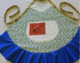 Vintage Embroidered Bunny Apron
