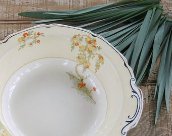 """Antique English Grindley The Lucerne 9"""" Vegetable Bowl, Serving Bowl English China Cottage Style Chic"""
