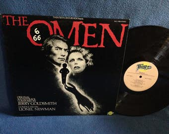 "RARE, Vintage, Jerry Goldsmith - ""The Omen""  Original Soundtrack, Lionel Newman, Damien,  Horror, Occult, Satan, Vinyl LP, Record Album"