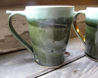 stoneware pottery mugs, ceramic mug, mugs, green mugs, handmade mugs, cups, cup, coffee mugs, coffee cup, tea cups