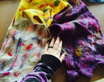 Handmade long felted scarf