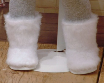 White Fur Boots for American Girl Dolls